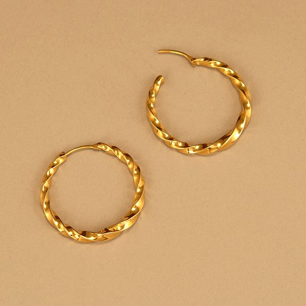 Gold earring hoops fashion punk men women crystal for Jared jewelry the loop