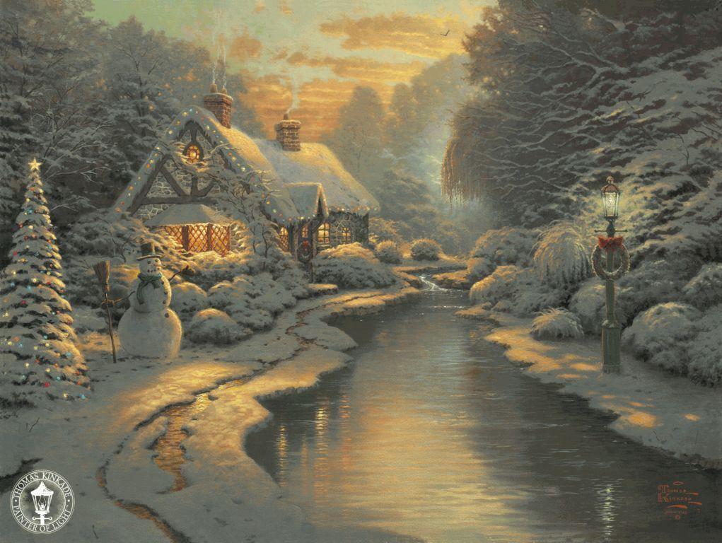 http://gallery.ru/?panel=list Thomas Kinkade