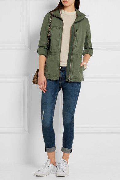 Madewell | Fleet brushed-cotton jacket | NET-A-PORTER.COM