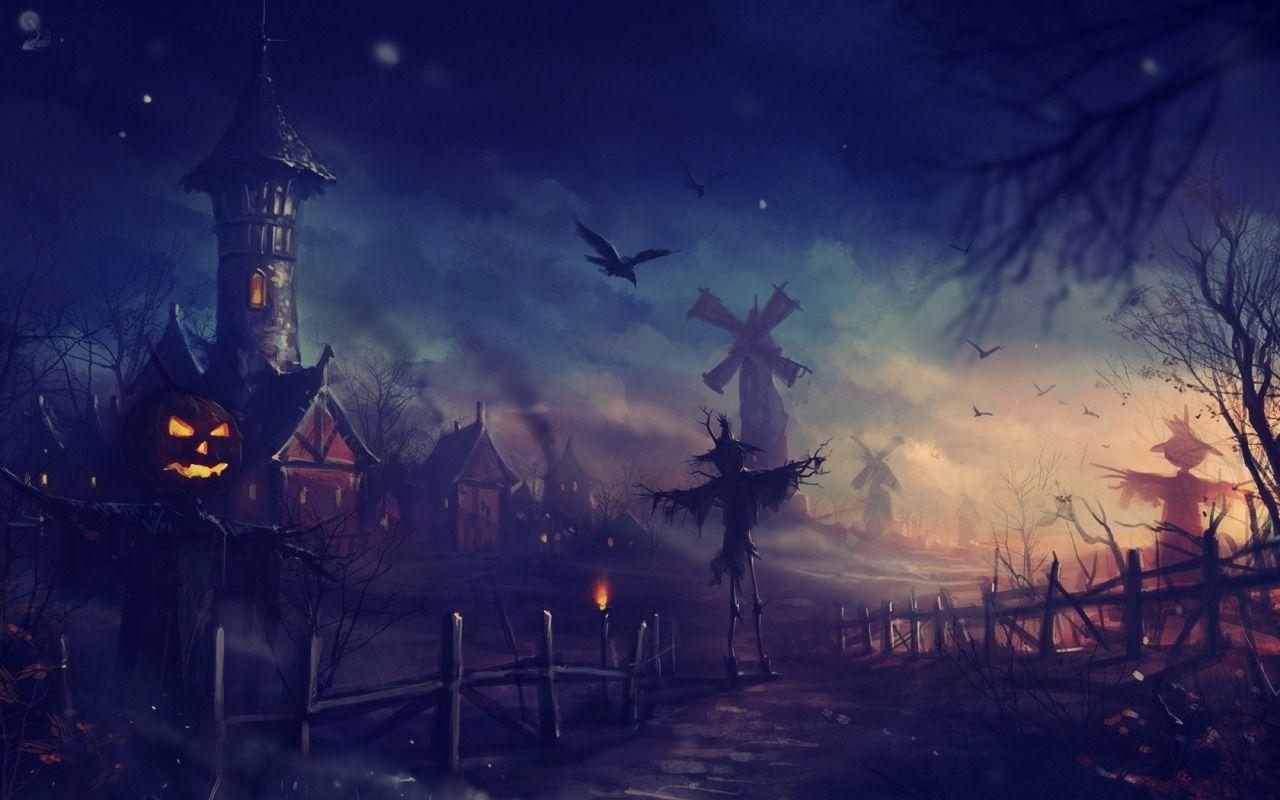 Via One Halloween Evening Computer Wallpapers Desktop Backgrounds 1680x1050 Id 322616 Halloween Wallpaper Halloween Backgrounds Halloween Pictures
