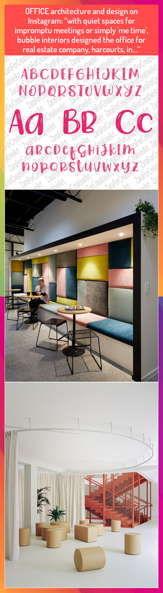 OFFICE architecture and design on Instagram with quiet spaces for impromptu meetings or simply me time bubble interiors designed the office for real estate company harcou...