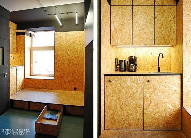 Mini Kuchnia Z Taniego I Oryginalnego Materialu Osb Furniture Osb Garage Interior