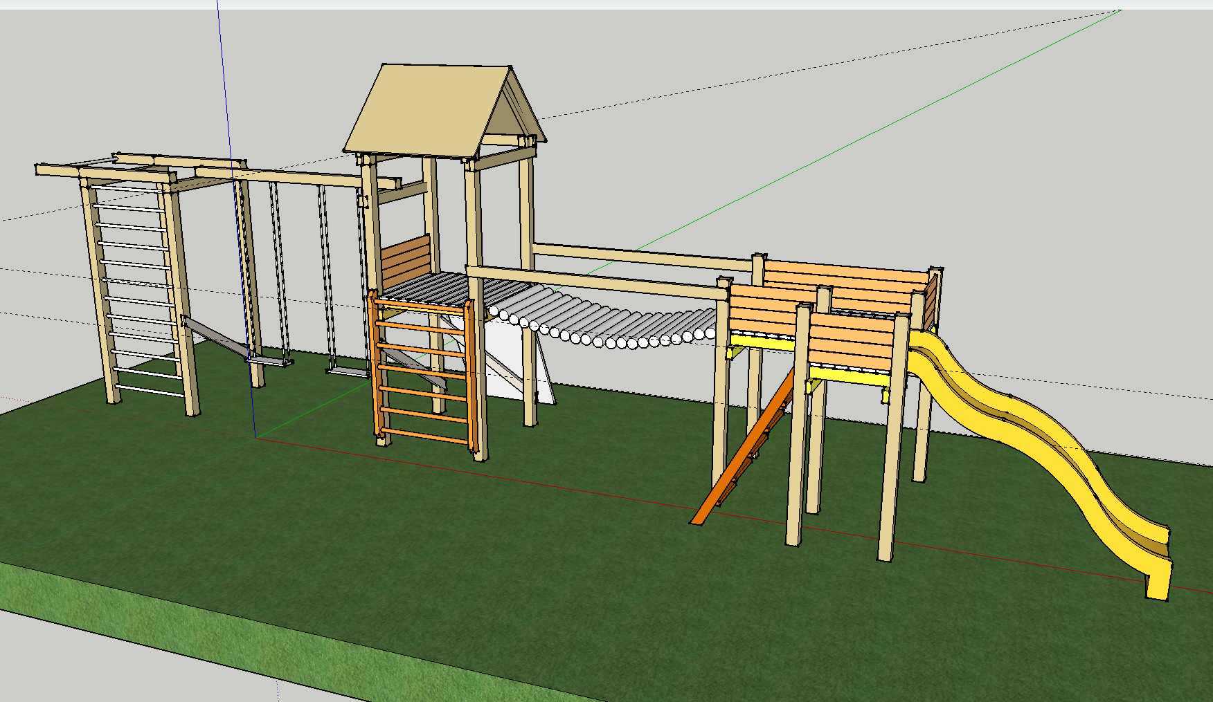 1001 pallets pallet kids playground here is a home made playground - Diy Kids Playground Diy Kids Playground Project Jono Udrio Tinklara Tis