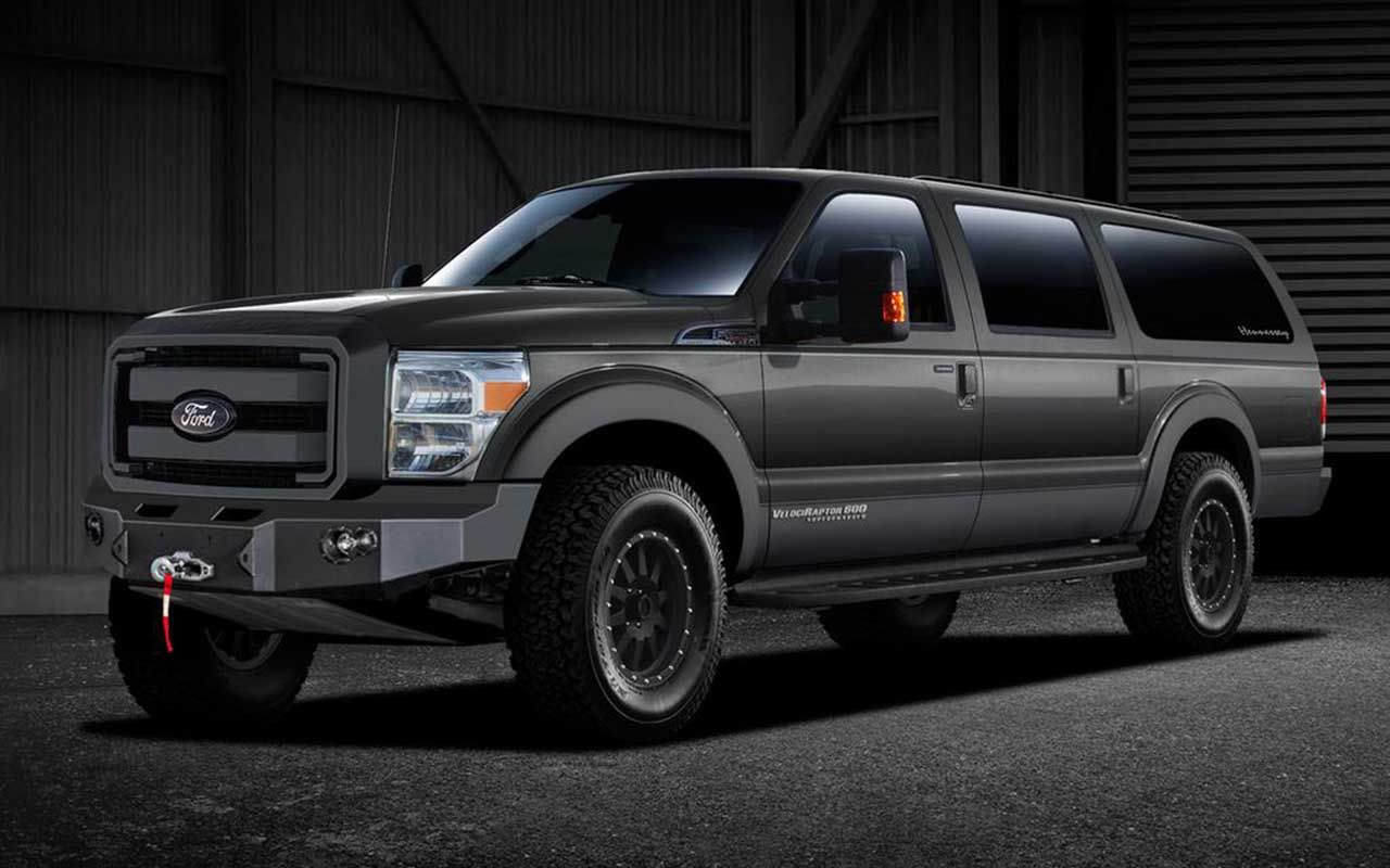 Ford excursion lives on through 2016 hennessey velociraptor suv find this pin and more on new car models 2017