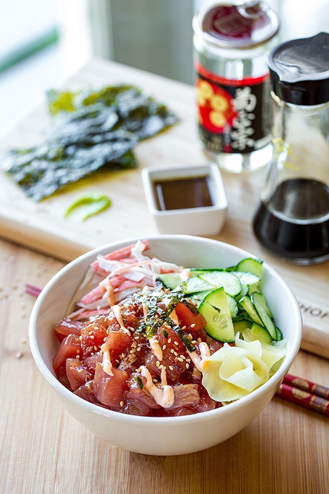 12 Poke Bowl Recipes That Will Transport You Oceanside | Idée souper, Recette, Alimentation