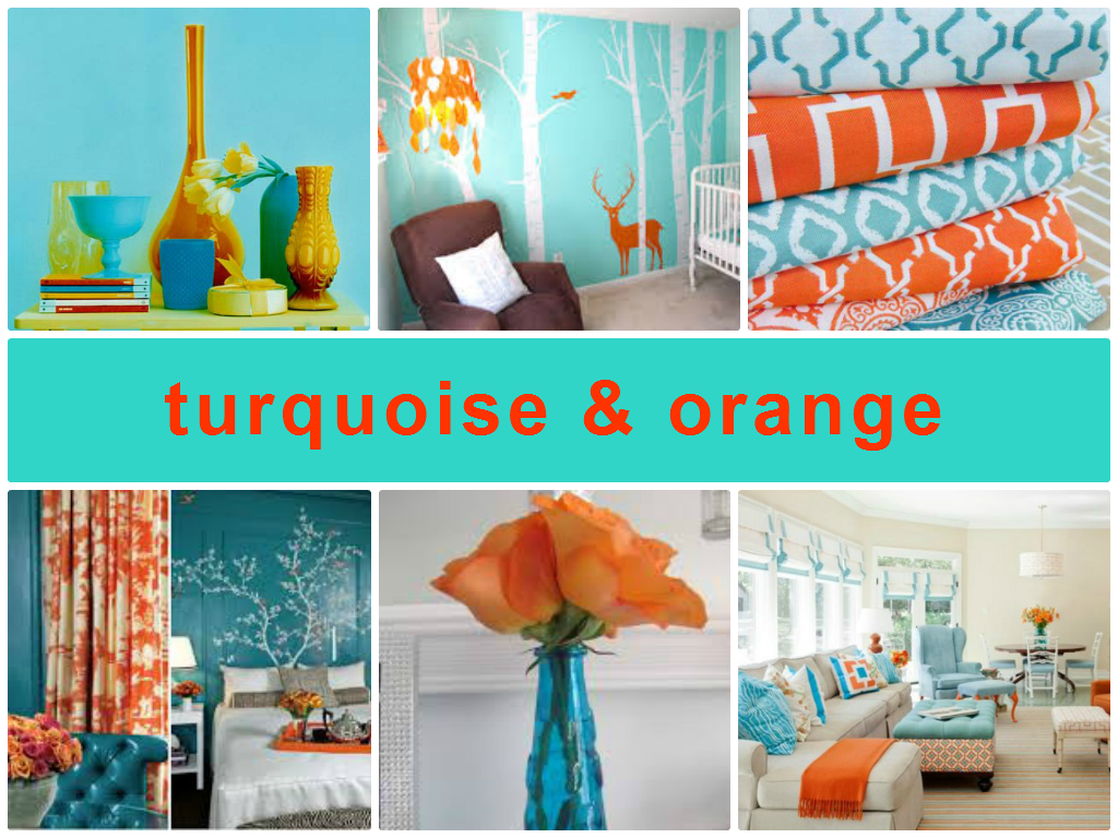 Turquoise And Orange Combination For Home Decoration Orange Home Decor Living Room Orange Room Colors #orange #and #turquoise #living #room