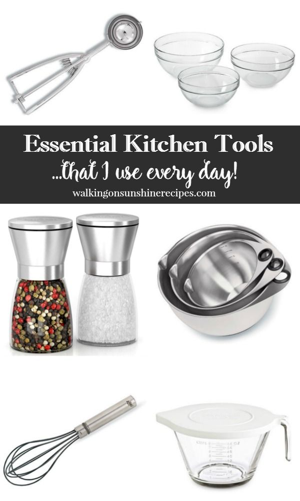 A Great List Of Basic Kitchen Essentials Tools That I Love Using Every Day From Walking On Sunshine