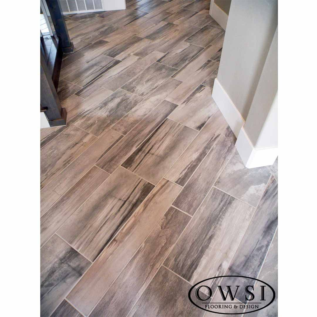 Love These Staggered 6x36 12x24 Porcelain Tiles Makes This Wood