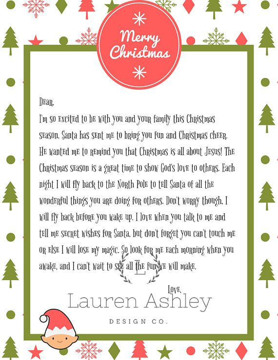 Personalized Elf Arrival Letter Printable ( Please allow 24 hours for personalization) #elfontheshelfarrivalletter