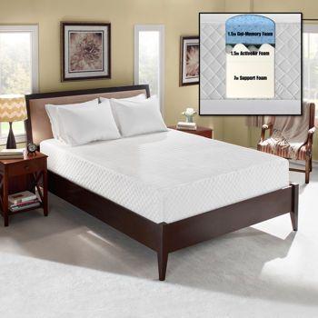 Novaform® Comfort Plus Queen Gel-Memory Foam Mattress