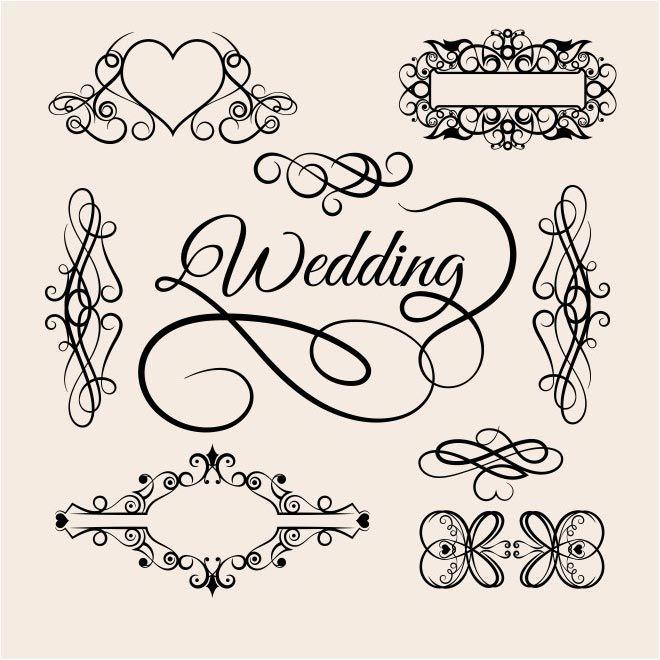 Free Vector Wedding Lettering Design Background Http Www Cgvector