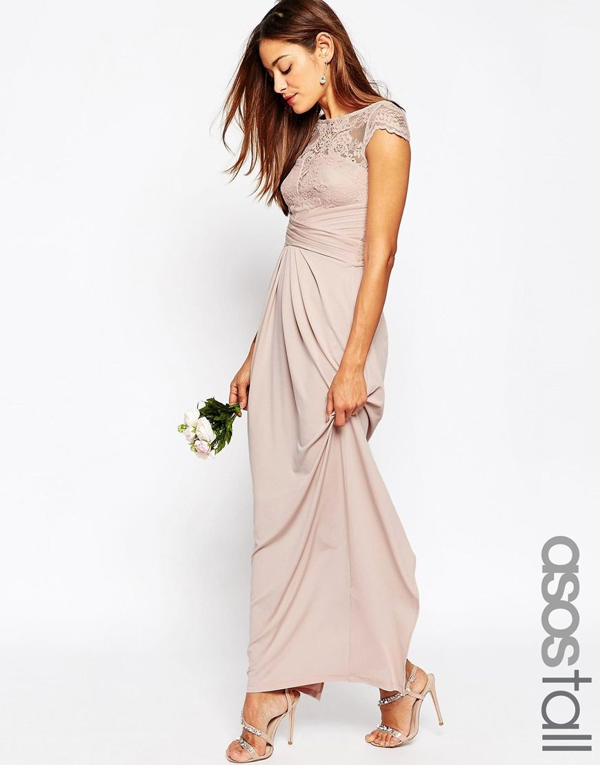 Image 1 of ASOS TALL WEDDING Lace Top Pleated Maxi Dress | MARRIED ...