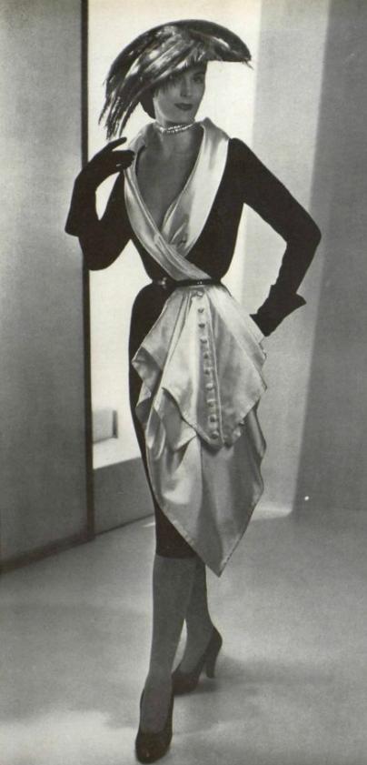 White Satin Dress 1950s,