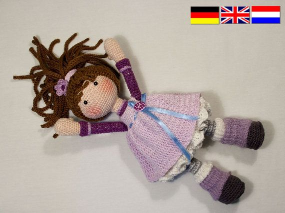 Crochet pattern for doll MIA Deutsch English door CAROcreated