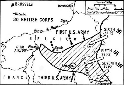 Image result for map of battle of the bulge | WWII | Data ...