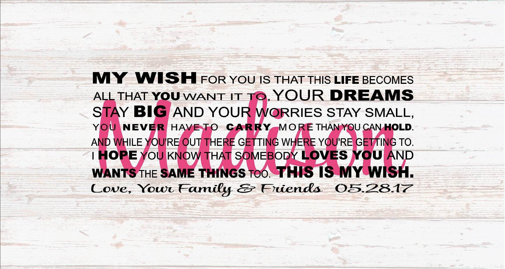 Senior 2017 Graduation My Wish For You Guest Book Alternative Christmas Gift Wood Sign Canvas Wall Art Dorm Room Teenager College by HeartlandSigns on Etsy  sc 1 st  Pinterest & Senior 2017 Graduation My Wish For You Guest Book Alternative ...