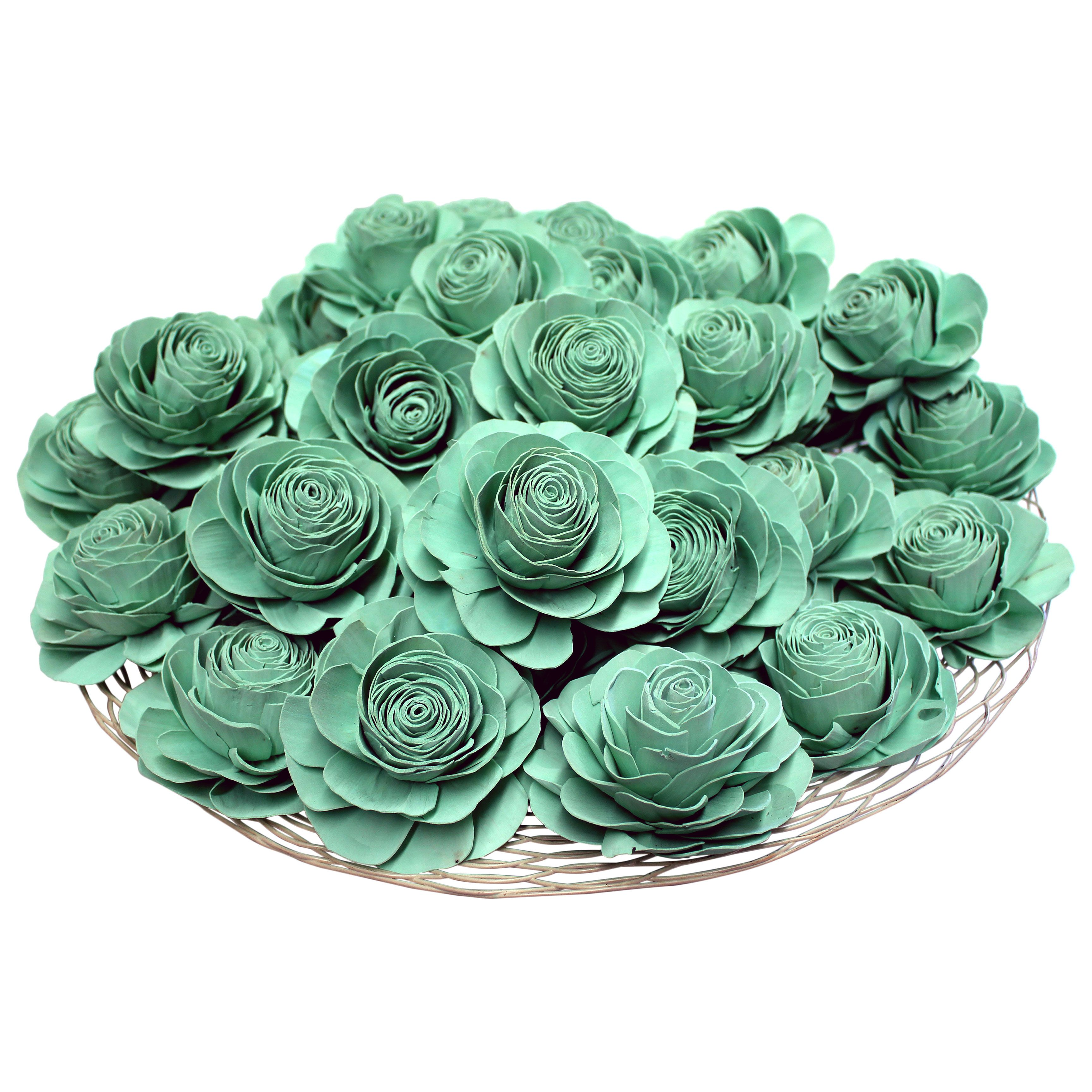 Mint Green Paper Flowers I Available at http://www.angelaromatics.com.au/fragrant-flowers/all-flowers-and-shapes/light-green-flower-lola