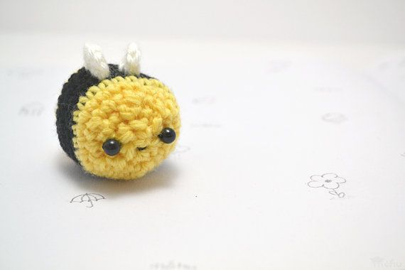Easy Amigurumi Cat Pattern : Amigurumi bee plush - kawaii crochet bumble bee Bumble ...