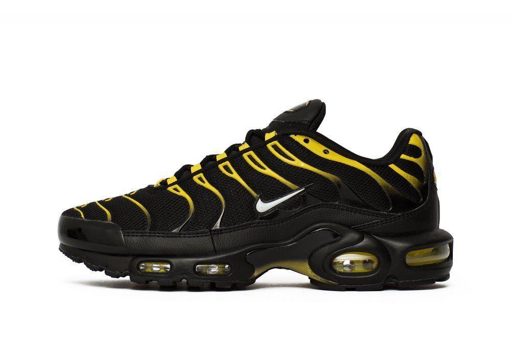 NIKE AIR MAX PLUS BLACK VIVID SULFUR WHITE 852630-020 Mens Running vapormax  TN  Nike  AthleticSneakers 0624ace0140