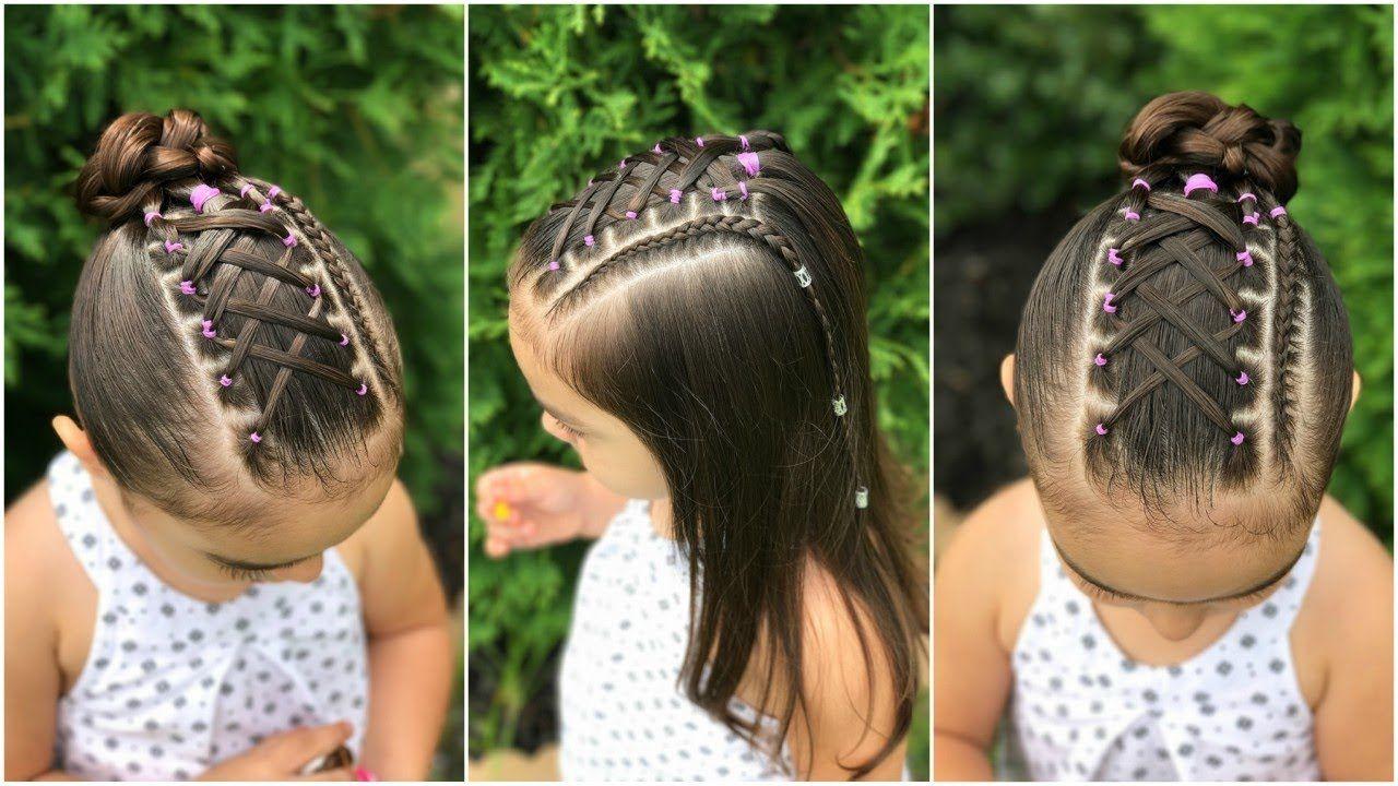 Peinado Para Nina Con Ligas Cruzadas Y Trenza Pegada Peinado Para Nina Peinados Para Ninas Peinados Faciles Y Rapidos Peinados Bonitos Para Ninos