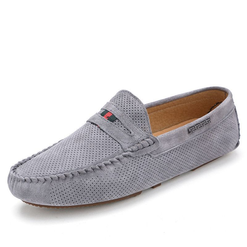 Men's Loafers Casual Breathable Fly Weave Slip On Driving Moccasin Shoes