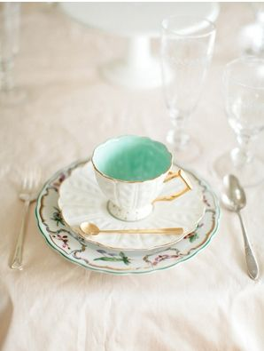 Duck Egg Blue Tea Cup! I must have. My favorite color