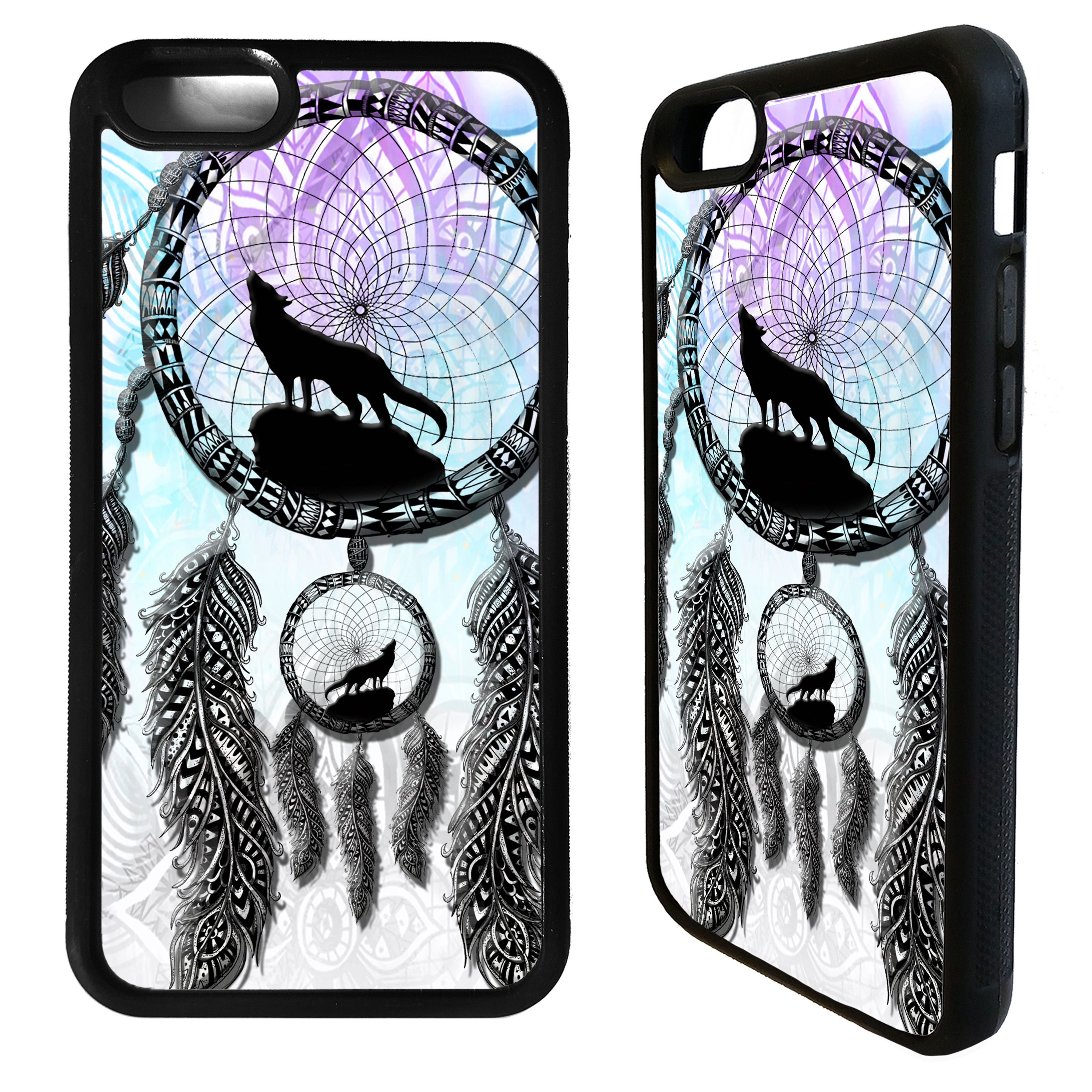 Dream catcher wolf howling wolves art case cover for
