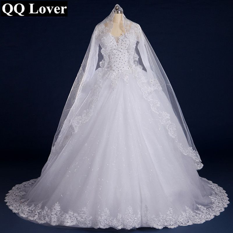 Beautiful Vintage Long Sleeves Lace Bridal Wedding Dress //Price ...