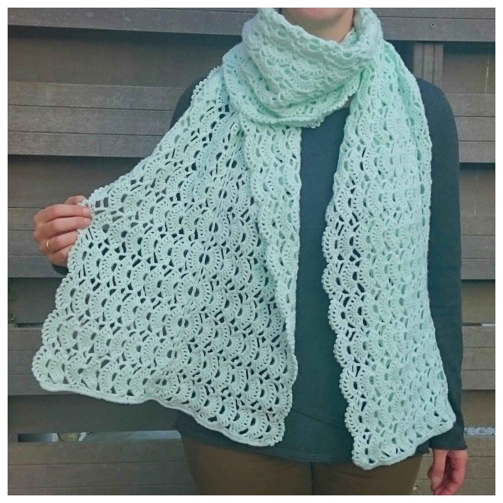 Kanten Sjaal Haken Gehaakt Crochet Knitting Pinterest Crochet