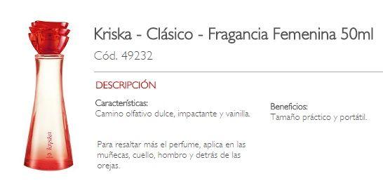 KRISKA CLASICO | Natura -Perfumes | Pinterest | Clasicos y Perfume