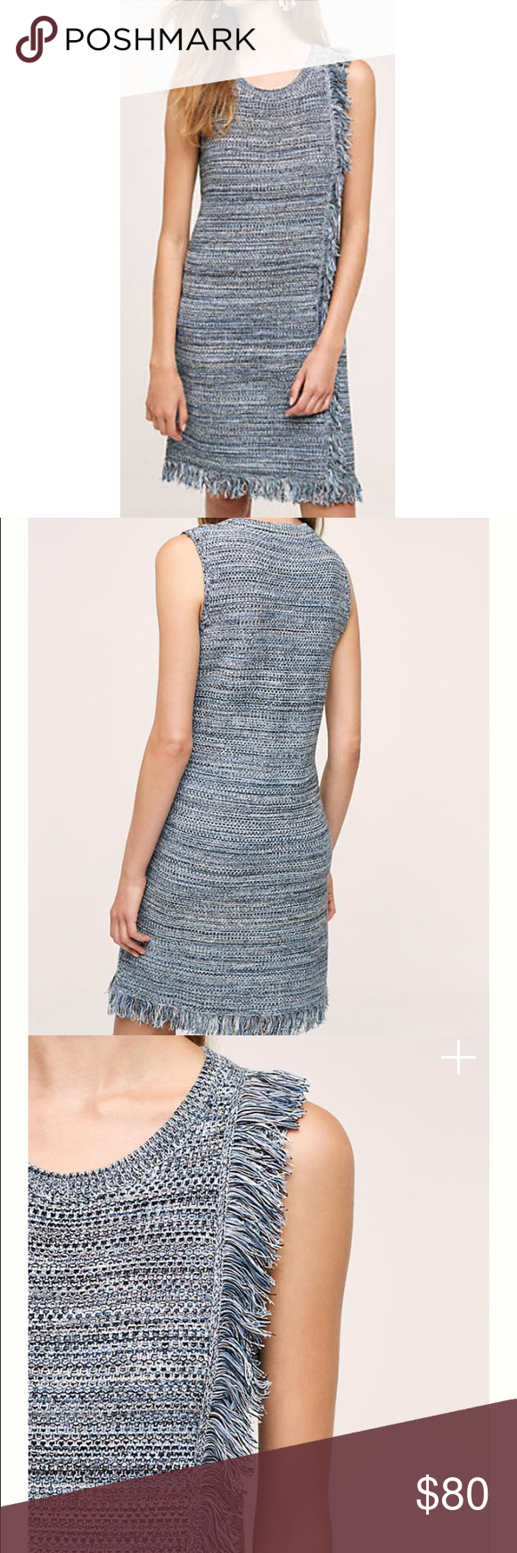 27c634d00a anthro holding horses sweater dress Beautiful fringed sweater dress by Holding  Horses from Anthropologie. Blue