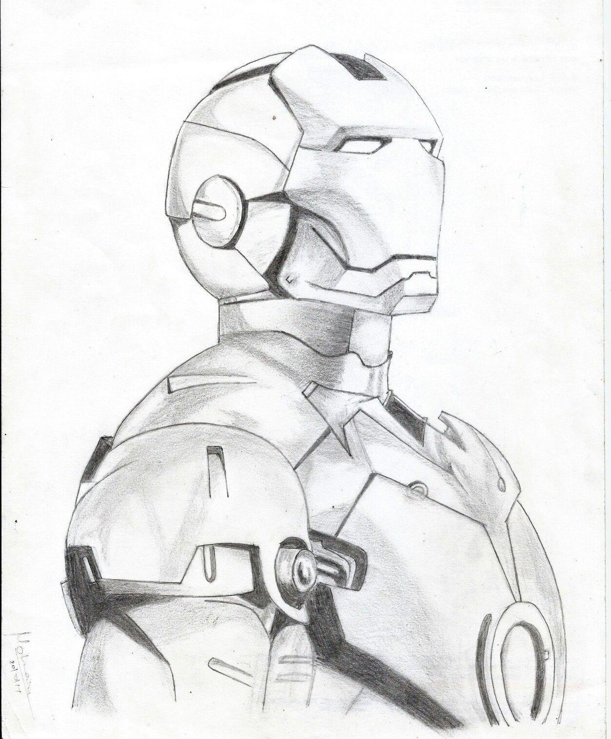 Iron man pencil sketch