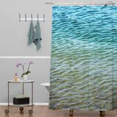 Found it at Wayfair - Shannon Clark Ombre Sea Woven Polyesterr Shower Curtain