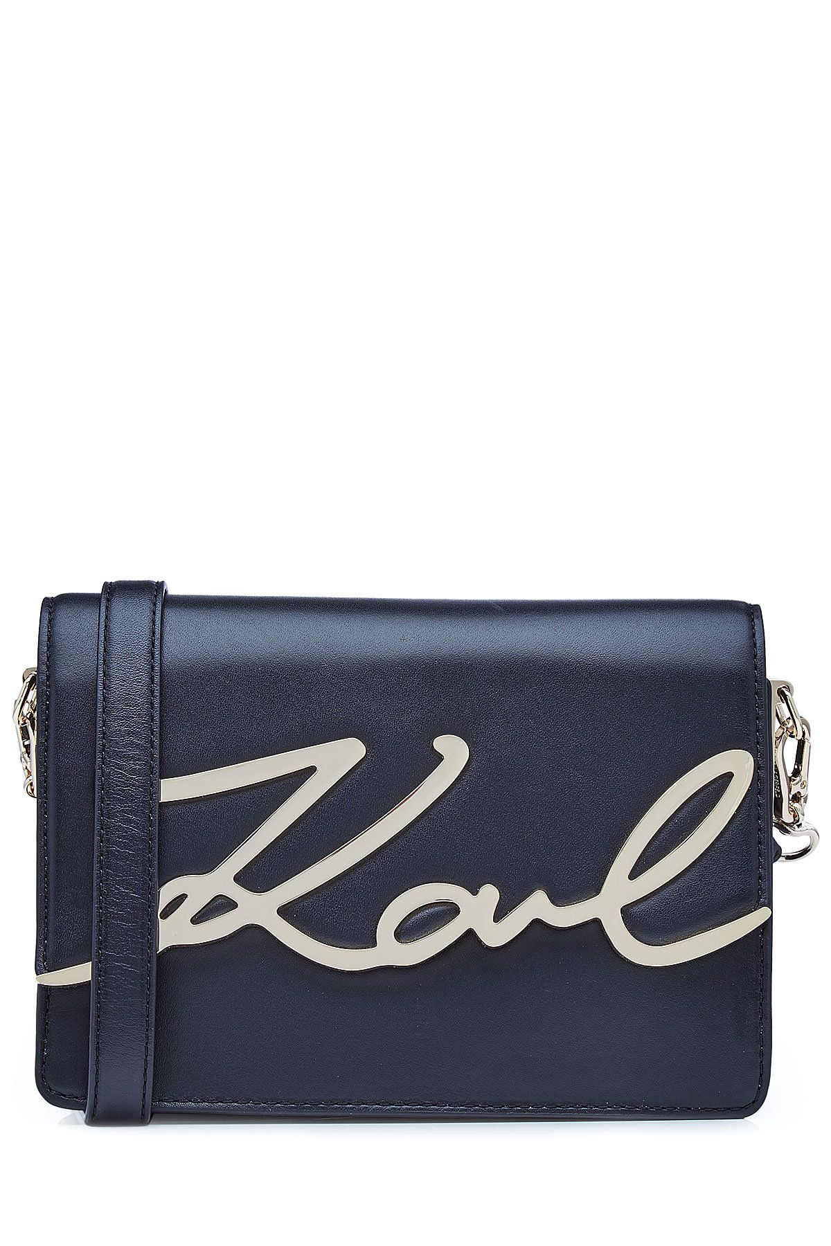 b889354428 KARL LAGERFELD x STYLEBOP.com K Signature Shoulder Bag in Midnight Blue