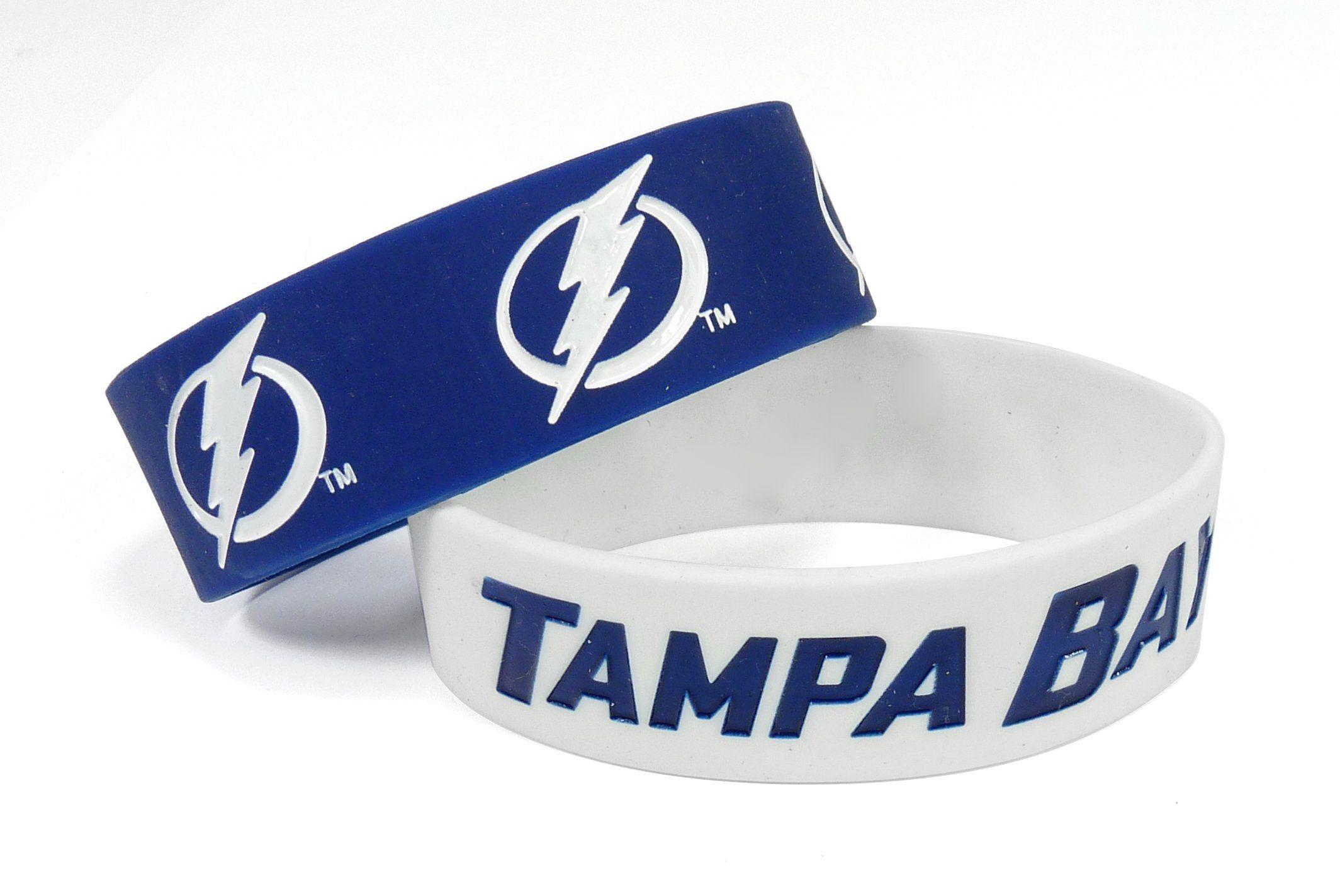 Tampa Bay Lightning Bracelets - 2 Pack Wide  ab6ce6445