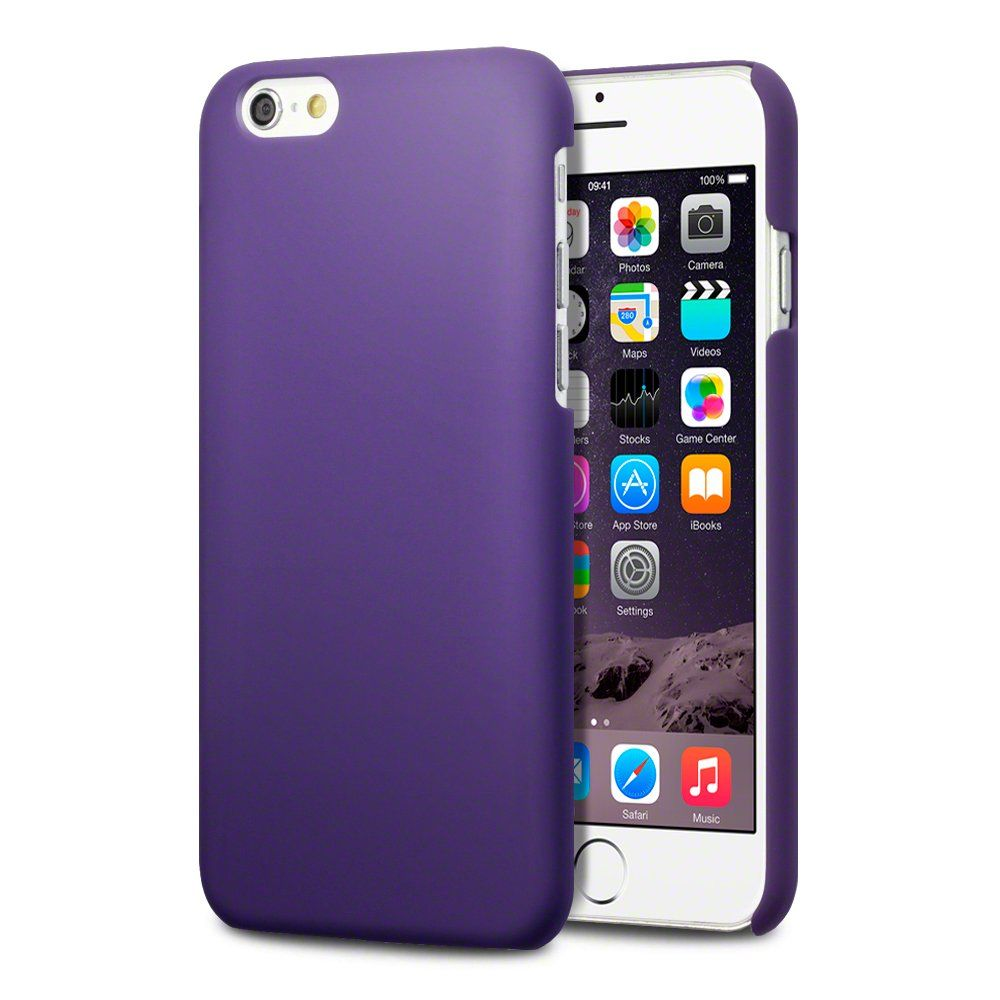 Iphone 6 Case Terrapin Extra Slim Fit Hybrid Rubberized Protective Hard Case For Iphone 6 4 7 Quot Solid Purple Iphone Iphone Cases Apple Iphone 6
