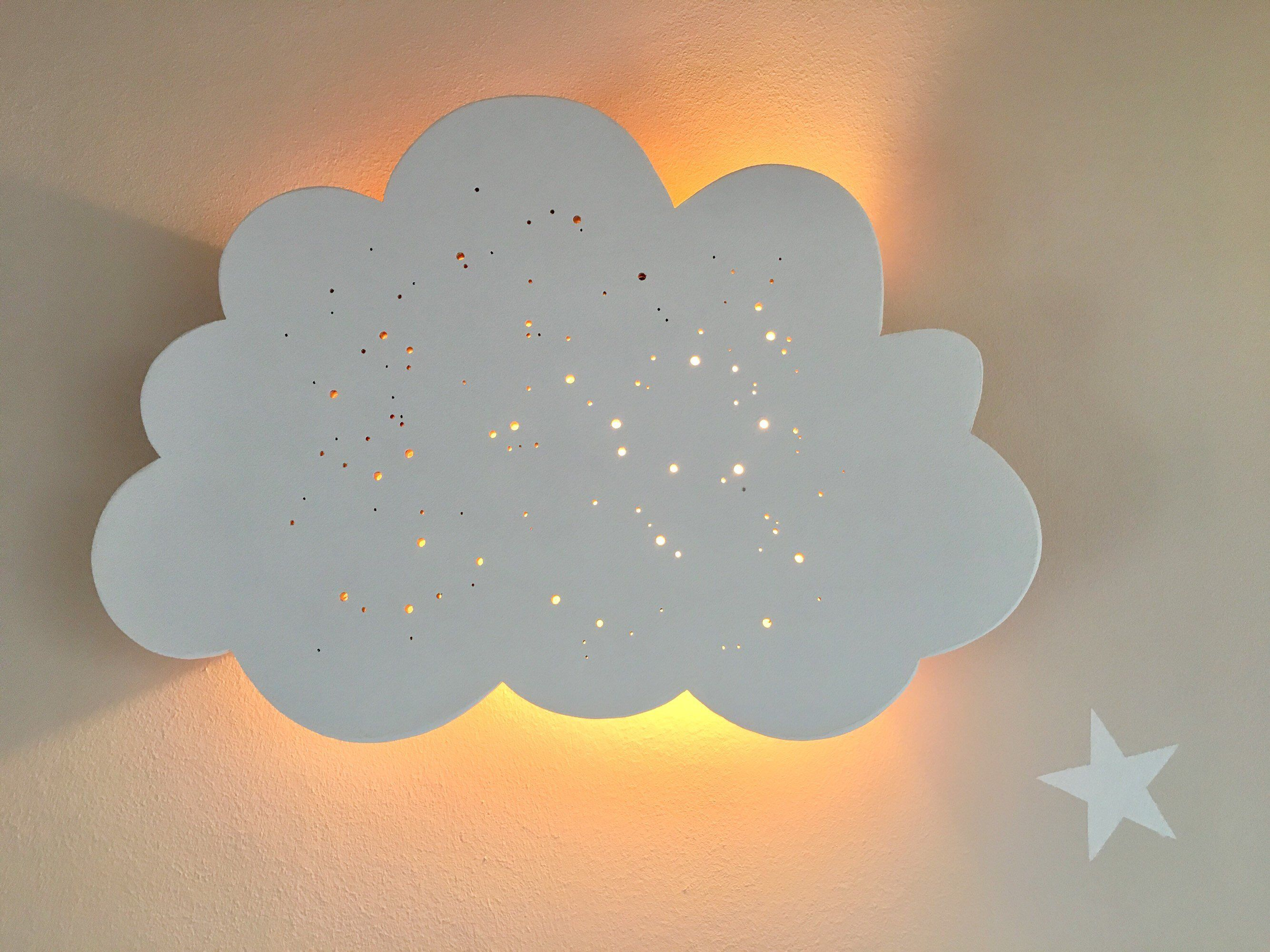 Kinderlampe Wandlampe Wandleuchte Wolkenlampe Holzlampe Etsy Wolkenlampe Nachtleuchte Kinder Lampen