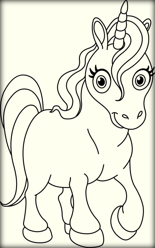 Cute Unicorn Coloring Pages for Kids Color Zini | Unicorn ...