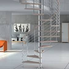 Image result for brushed stainless steel spiral staircase
