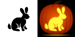 pumpkin template bunny  Rabbit Pumpkin Stencil | Pumpkin carving stencils free ...