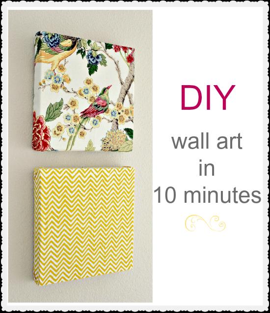 DIY Wall Art in 10 Minutes | Diy wall art, Diy wall and Cloth napkins