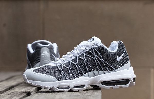 Nike Air Max 95 Ultra Jacquard QS: White/Wolf Grey