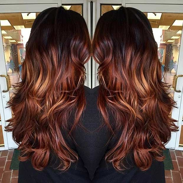 25 Copper Balayage Hair Ideas For Fall Stayglam Balayage Hair Copper Copper Balayage Ombre Hair Blonde