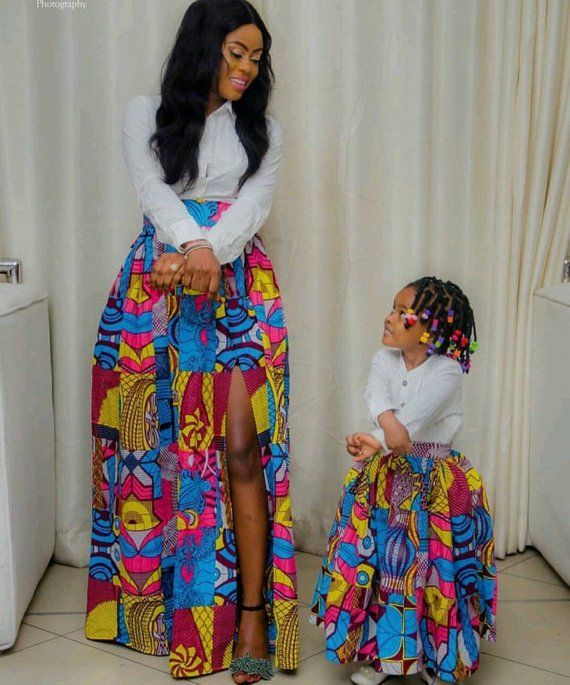 African mommy and me skirts/ African women clothing / African twinning skirts/ African fashion skirt