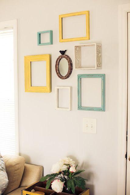 The Green Dresser Reusing Empty Frames For Wall Art Empty