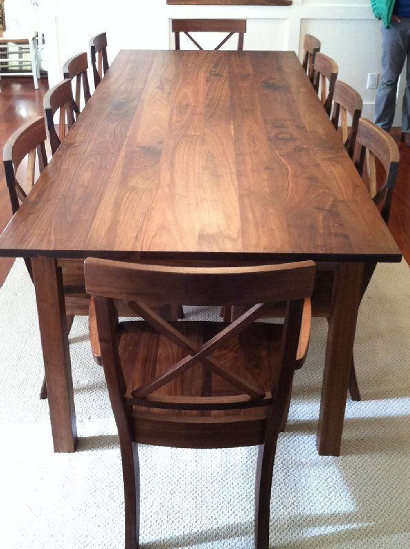 Lots Of Good Table Inspiration On This Site Solid Walnut Mission
