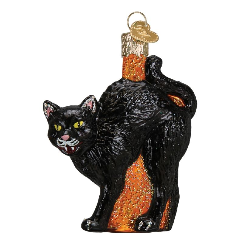 Scaredy Cat Glass Ornament Ornaments Pinterest Ornament