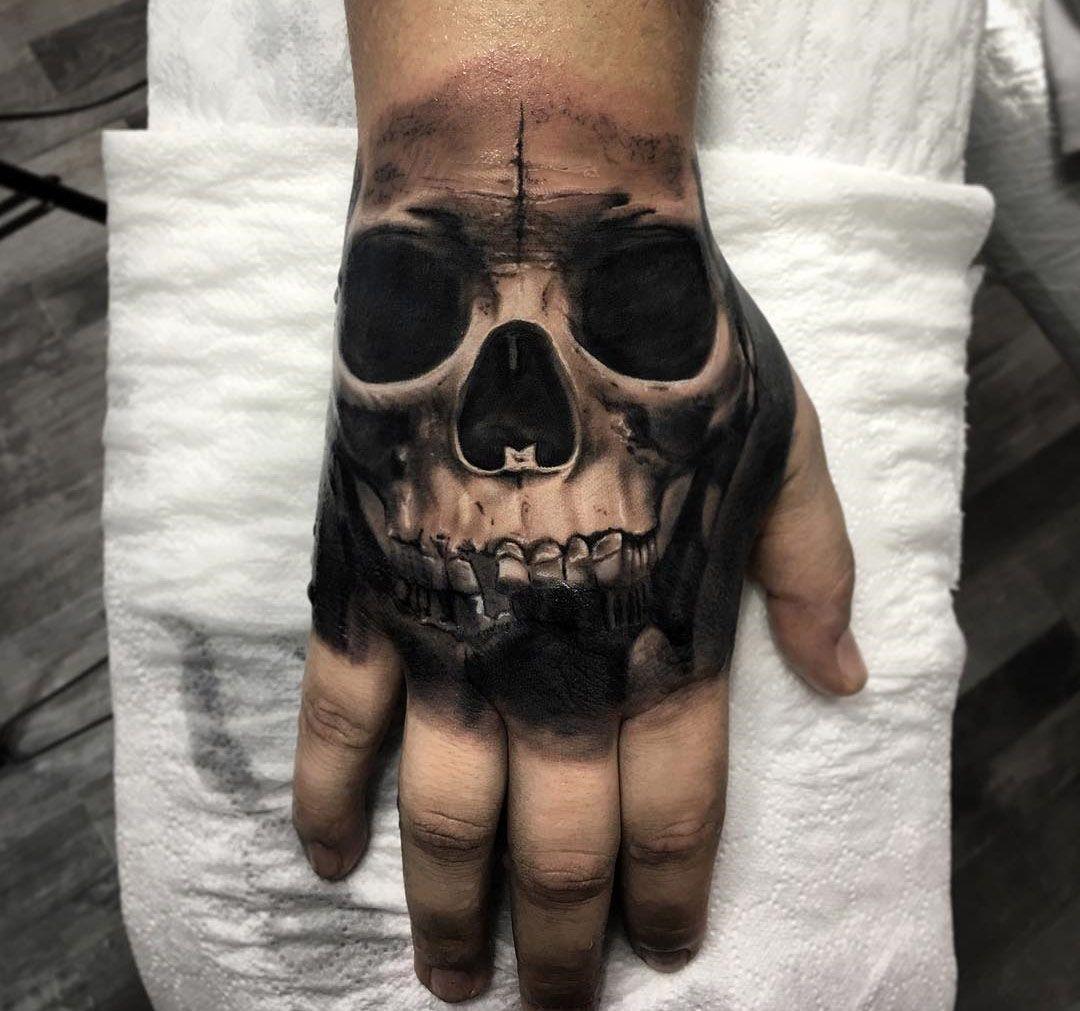 Dark Hand Skull Best Tattoo Design Ideas Hand Tattoos For Guys Skull Hand Tattoo Hand Tattoos