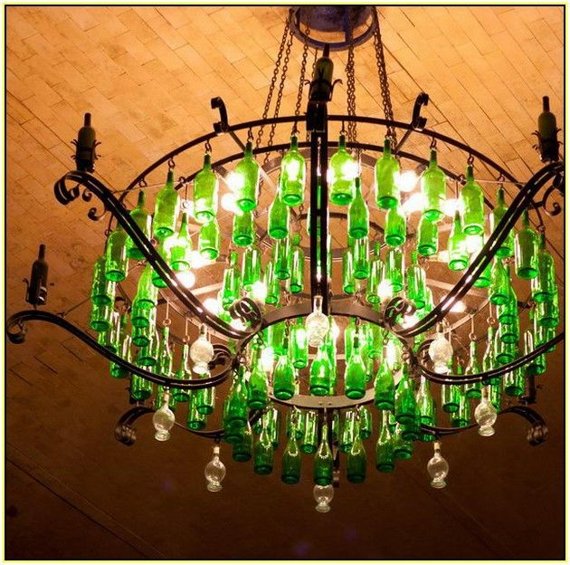Winebottle chandelairs google search verde pinterest chandeliers winebottle chandelairs aloadofball Images
