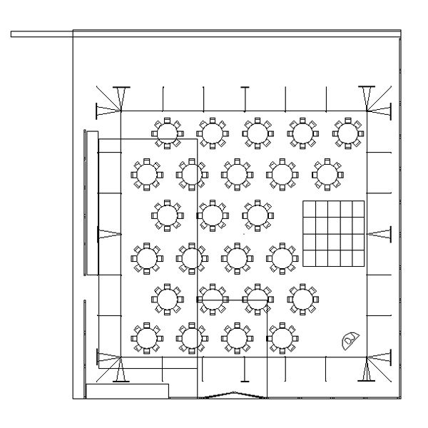 Wedding reception layouts for 150 people with 60x60 tent for Table 60x60 design